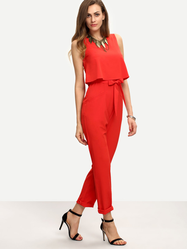 SHEIN Sleeveless Bow Tie Waist Jumpsuit.jpg